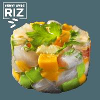 Tartare de daurade mangue & riz