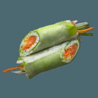 Rouleau de printemps saumon
