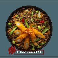 Nouilles aux crevettes tempura