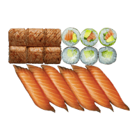 Salmon Aburi Box