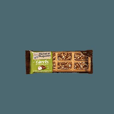 Petits carrés chocolat au lait et nougatine